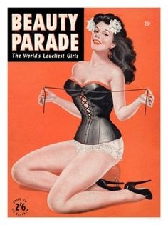 Pin Up Girl Poster 11x17 Beauty Parade magazine cover art September Fishnets