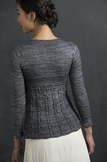 """Idril is so named because…this sweater looks like the armor of mithril that Frodo Baggins wears in the Lord of the Rings. Just as the beauty of mithril did not tarnish or grow dim, neither will this beautiful cabled sweater."""
