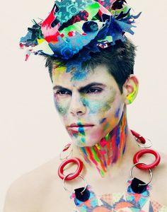 neon geometric fashion editorial