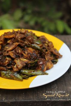 Squid Roast / Kerala Style Koonthal Varattiyathu - Recipe Book