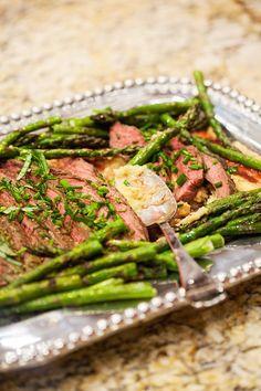 ... : Flank Steak with Pesto over Sun-Dried Tomato Polenta with Asparagus