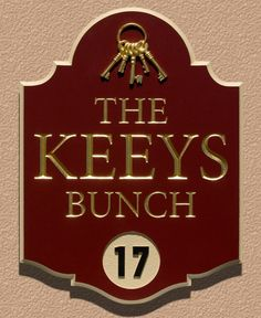 The Keeys Bunch House Sign | Danthonia Designs