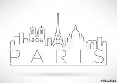 """Descargue el vector libre de derechos """"City of Paris Minimal Skyline Design"""" creado por avniunsal al precio más bajo en Fotolia.com. Explore nuestro económico banco de imágenes para encontrar el vector perfecto para sus proyectos de marketing."""