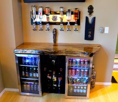 Turning Your Basement into the Ultimate Man Cave Can Be Fun - Man Cave Home Bar Man Cave Room, Man Cave Basement, Man Cave Diy, Man Cave Home Bar, Man Cave Garage, Garage Bar, Men Cave, Man Cave Mini Bar, Garage Man Cave Ideas On A Budget