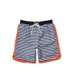 Toobydoo The Stripe Boy's Swimshort (Infant/Toddler/Little Kids/Big Kids) Navy/White - Zappos.com Free Shipping BOTH Ways