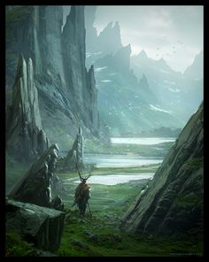 """Asgard's Journey"" by Raphael Lacoste    http://fc04.deviantart.net/fs71/f/2012/239/f/2/asgard__s_journey_by_raphael_lacoste-d5clt3y.jpg"