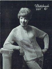 146214a42501fe Garry owen 29 ladies aran cardigan vintage knitting pattern ...