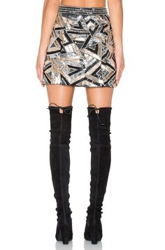 X by NBD Bethany Skirt in Contrast Shine