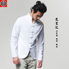 White auspicious cloud. The Chinese style fashion dress Tang style coat