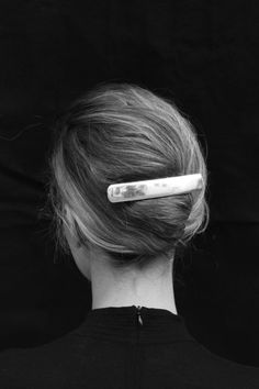 """STERLING SILVER BARRETTE, Sophie Buhai, $375 - SOLID STERLING SILVER BARRETTE WITH FRENCH BACKING. A HAIR ACCESSORY THAT LASTS FOREVER. 4""""w x 0.75""""h"""