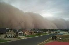 A dust storm rolls into Midland, Texas. been through these many times when we lived in Texas.