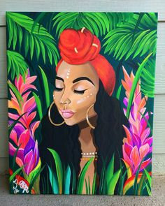 """8,337 Likes, 51 Comments - Dope Black Art (@dope_black_art) on Instagram: """"By @b_doan - Another Island Gal for my love @missnellej #art #painting #acrylic #canvas #island…"""""""