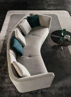 56 Beautiful DIY Sofa Design Ideas - Home-dsgn Modern Sofa Designs, Sofa Set Designs, Diy Sofa, Living Room Seating, Living Room Sofa, Lounges, Sofa Furniture, Furniture Design, L Shaped Sofa Designs