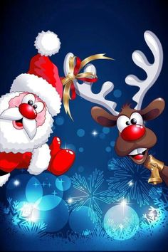 Ideas Christmas Wallpaper Santa Natal For 2019 Christmas Deer, Christmas Pictures, Vintage Christmas, Christmas Crafts, Merry Christmas, Christmas Decorations, Christmas Ornaments, Illustration Noel, Christmas Illustration