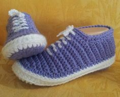 Crochet slippers that look just like Vans: #crochet #slipper #pattern for purchase