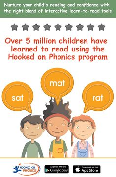 5MM children learned to read with Hooked on Phonics.  Try Now for Free!