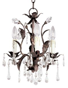 """Master bathroom: Grove Collection Romantic Three Light Chandelier - $165.91; oil-rubbed bronze finish. Crystal glass accents.Three 60 watt candelabra bulbs (not included). 14"""" wide. 15 1/2"""" high. Grove Collection Has matching chandelier or bedroom;"""