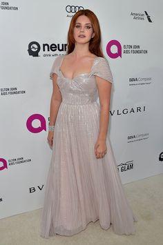 Pictured: Lana Del Rey | Stars Let Their Hair Down at Elton John's Annual Oscars Bash! | POPSUGAR Celebrity Photo 17
