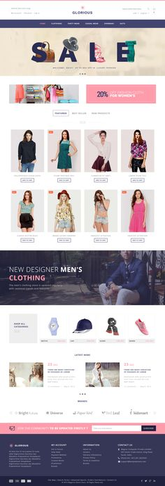 Glorious Magento Responsive Theme is available in seven different layout and…