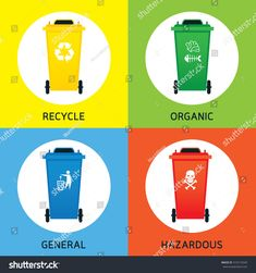 Waste Management Concept Illustration Waste Segregation