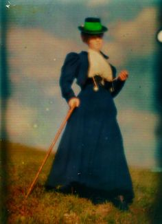 Heinrich Kühn (1866-1944) Mary Warner sur le versant de la.