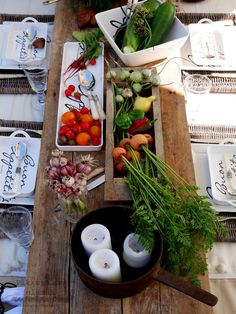 harvest party with old pots and Riviera Maison