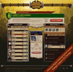 Game Screen from Realm Adventure League. Game UI http://realmadventureleague.com