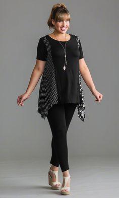 Dotty Tunic / MiB Plus Size Fashion for Women / Spring Fashion http://www.makingitbig.com/product/5132