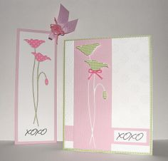 Card and Bookmark by bdengler4 (Barb), via Flickr  prim poppy..pastel colour card and tag