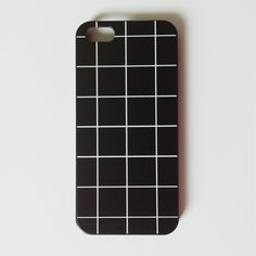 Specialty designed phone case featuring a minimalistic black grid design. Available for iPhone 5 and iPhone 6.