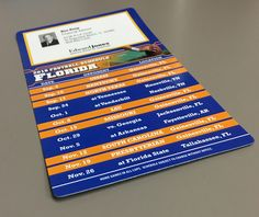 School's football calendars on magnets are a useful giveaway for football season.