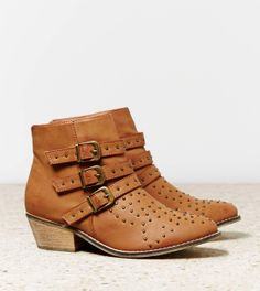 AEO Studded Buckled Bootie