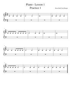 Rosa Enid Cruz Roque: Piano Notes - Lesson 1 - Exercise 1