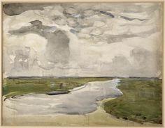 Méandres (Paysage de Polder avec rivière) Description : 1906-1907 Auteur : Mondrian Piet