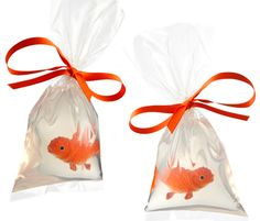 Send the kids home with goldfish soap! Just get plastic goldfish, melt pure glycerin (you can find at any craft store), pour in heavy duty bag, va-la!