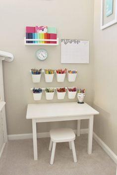 Playroom Toddler Art Station #toddlerplayhouse