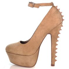 Sniff Lt-Taup Spike Pump - women shoes $24.5