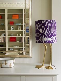 Kensington House study detail Porta Romana duck feet lamp