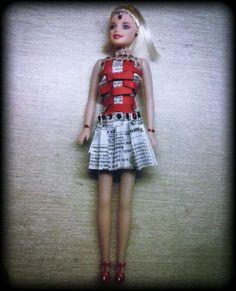 dress designed my me.  theme- weaving