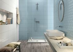 Aqua porcelain wall tile
