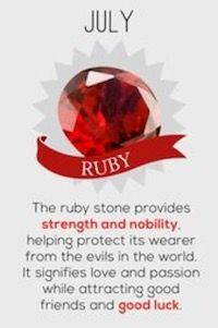 July Birthstone – Ruby Meaning And History With Images Birthstones Meanings, Month Birthstones, July Cancer, Cancer Zodiac Facts, Cancer Horoscope, Month Meaning, Hello July, July Birthstone, Frases