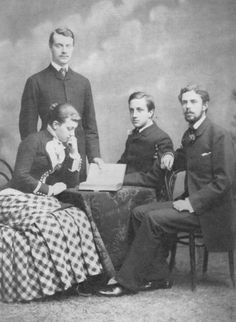 1882 Crown Princess Victoria with her brothers and Gustav | Grand Ladies | gogm