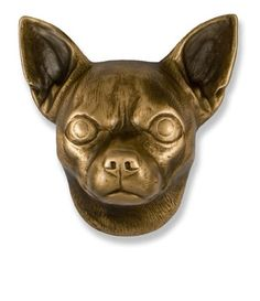 Michael Healy Chihuahua Dog Knocker Bronze from Cabinet Knobs and More