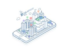 Tegra - Digital Agency - To represent the complex as simple Isometric Map, Isometric Drawing, Isometric Design, Flat Illustration, Digital Illustration, Gifs, Grafik Design, Motion Design, Motion Graphics