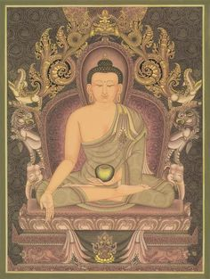 This Amitabha Buddha thangka, or paubha, painting is by famed Nepali traditional artist, Lok Chitrakar. Collector's Edition prints are available for sale and support social programs in the Himalaya. Thangka Painting, Buddha Painting, Buddha Art, Painting Canvas, Buddhist Wheel Of Life, Nepal Art, Amitabha Buddha, Spiritual Transformation, Tibetan Art