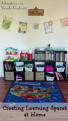 Creating Learning Spaces at Home - Tips to create functional learning and play spaces in your home