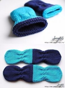 pepel-rozi.ru Mitten Gloves, Baby Knitting, Little Ones, Knitwear, Knit Crochet, Slippers, Socks, Pattern, Sewing Tips