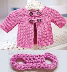 Allover yarn: Buttoned Baby Jacket
