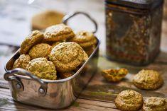 Pisztáciás keksz Almond, Muffin, Breakfast, Food, Morning Coffee, Essen, Almond Joy, Muffins, Meals