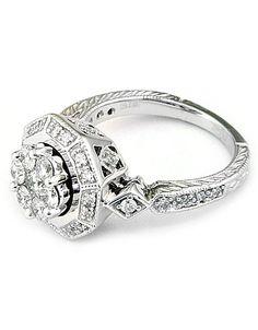 14 Kt. White Gold Diamond Ring! #lordandtaylor